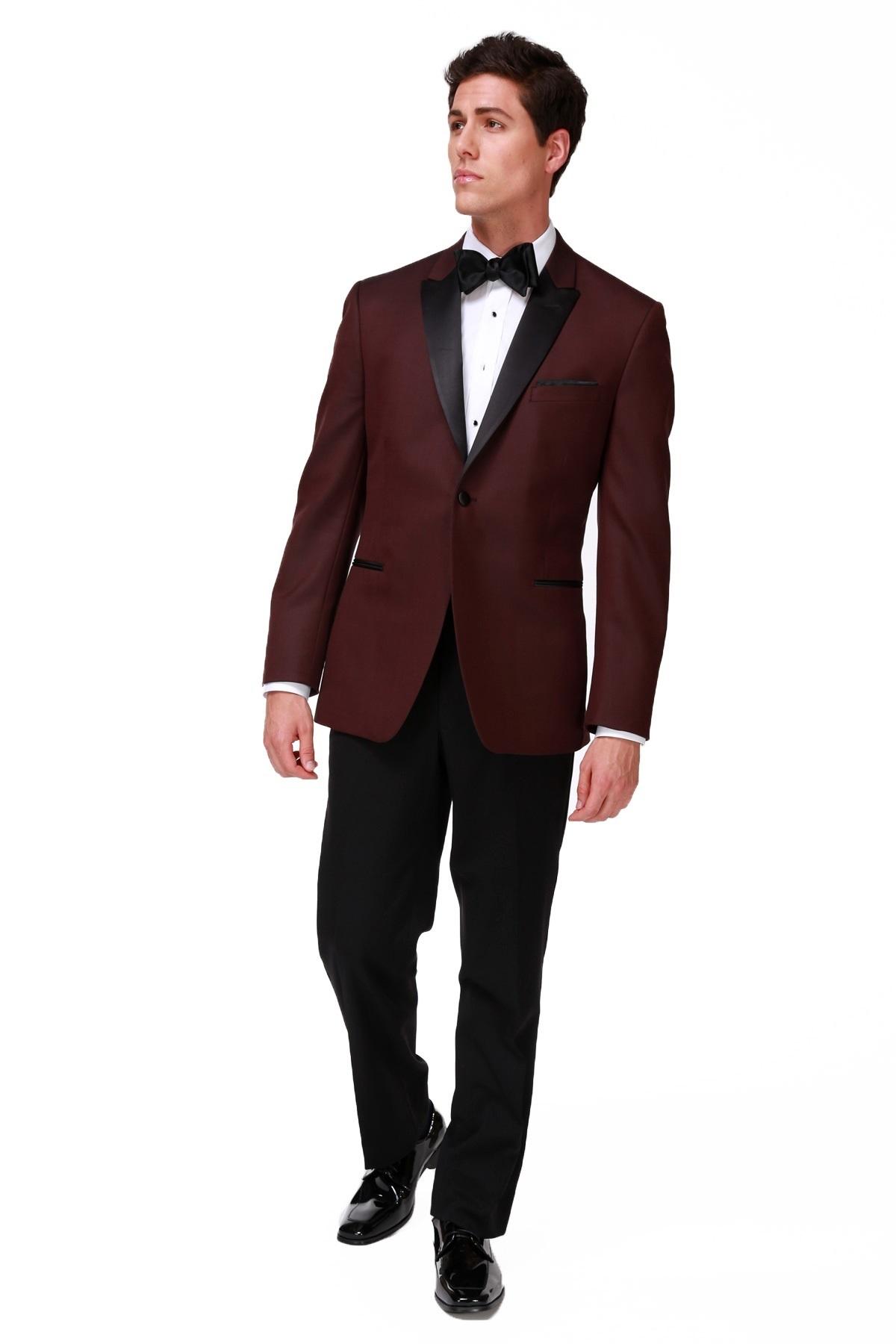 Milroy's Tuxedos - Burgundy Ike Behar Marbella Tuxedo