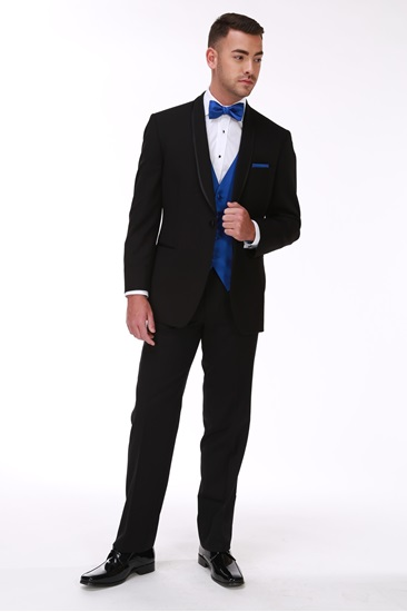 Picture of Black Ike Behar Waverly Tuxedo