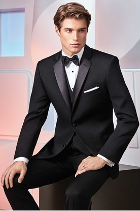 Black Ultra Slim Tuxedo Ike Behar